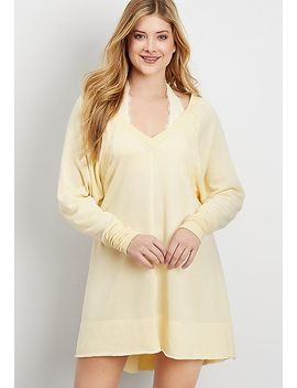 French Terry Pullover Nightshirt by Maurices