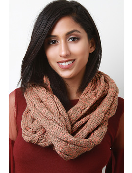 Cable Knit Infinity Scarf by Urbanog