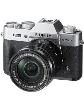 X T20 Mirrorless Digital Camera With 16 50mm Lens (Silver) by Fujifilm