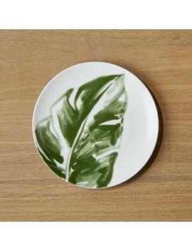 Barbados Leaf Salad Plate by Crate&Barrel