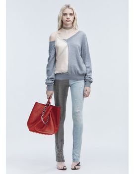 V Neck Sweater And Camisole Hybrid by Alexander Wang