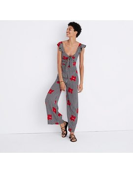 Plumeria Cutout Jumpsuit In Candied Orchids by Madewell