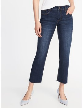 Raw Edge Cropped Flare Ankle Jeans For Women by Old Navy
