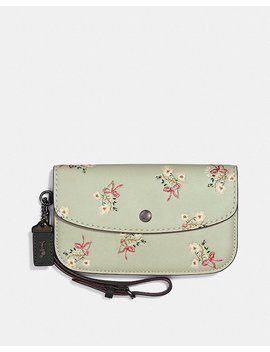 Clutch With Floral Bow Print by Coach