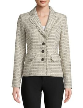 Faux Double Breasted Tweed Jacket by Tommy Hilfiger