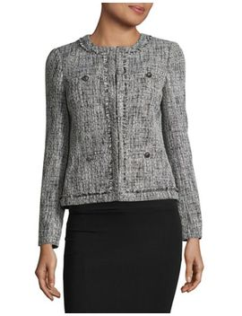 Multi Tweed Blazer by Tahari Arthur S. Levine