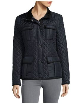 Snap Front Quilted Coat by Vince Camuto