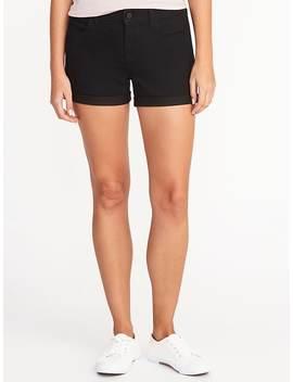 "Black Denim Shorts For Women (3 1/2"") by Old Navy"
