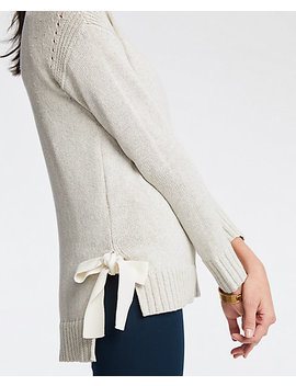 Petite Side Tie Sweater by Ann Taylor