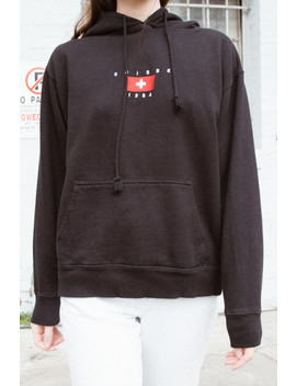 Christy Suisse 1984 Embroidery Hoodie by Brandy Melville