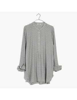 Wellspring Tunic Popover Shirt In Windowpane by Madewell
