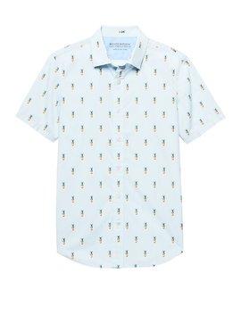 Grant Slim Fit Luxe Poplin Print Shirt by Banana Repbulic