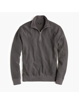 Pigment Dyed Cotton Half Zip Sweater by J.Crew