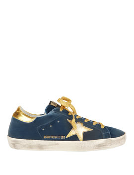 Superstar Blue Knit Gold Star Sneakers by Golden Goose
