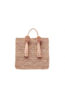 Straw Travel Tote by Loeffler Randall