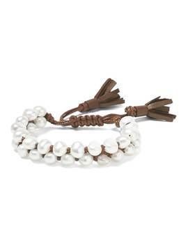 In2 Design   Victoria Pearl Tassel Bracelet by Banana Repbulic