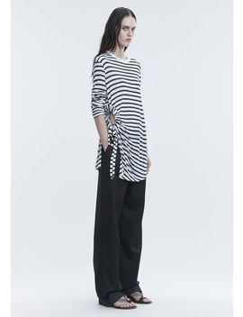 Striped Long Sleeve Cutout Tee by Alexander Wang