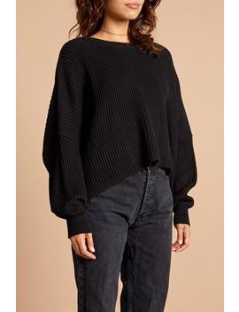 Cropped Oversized Black Sweater by Shipwreck