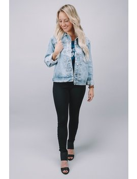 Liam Distressed Denim Jacket by Shipwreck