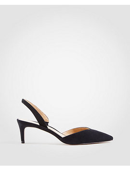 Elora Suede Slingback Pumps by Ann Taylor