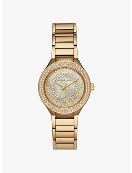 Mini Kerry Gold Tone Watch by Michael Kors