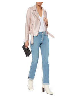 Mila Pink Leather Jacket by Iro