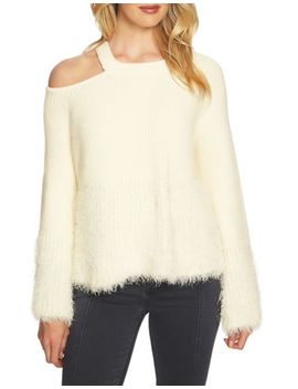 Faux Fur And Diamante Sweater by Quiz