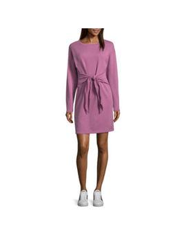 Project Runway Knot Waist Sweatshirt Dress by Project Runway