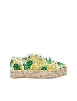 Pineapple Print Trainers by La Redoute Collections