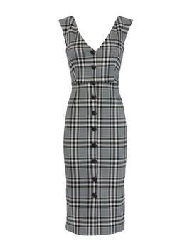 Lark Plaid Midi Dress by Veronica Beard
