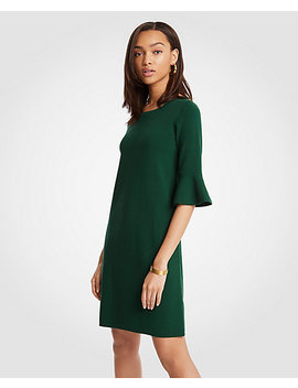Tall Fluted Sleeve Sweater Dress by Ann Taylor