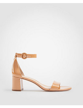 Nicole Patent Block Heel Sandals by Ann Taylor