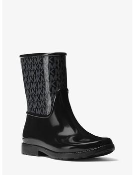 Sutter Logo Rubber Rain Boot by Michael Michael Kors