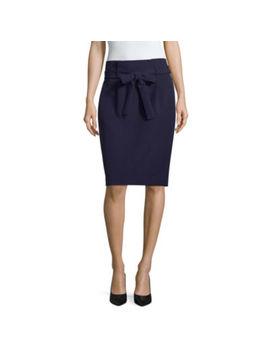 Liz Claiborne Tie Waist Pencil Skirt by Liz Claiborne