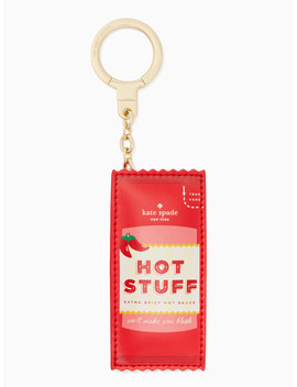 Hot Sauce Keychain by Kate Spade