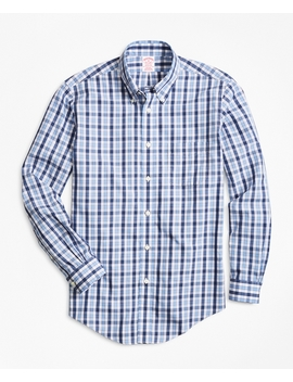 Non Iron Madison Fit Outline Check Sport Shirt by Brooks Brothers