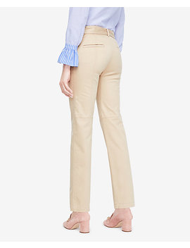 Belted Cotton Sateen Chinos by Ann Taylor