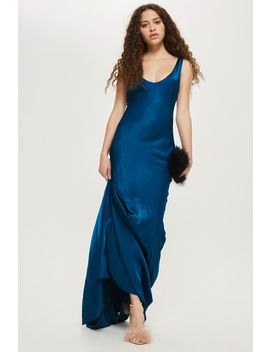 **Satin Fishtail Gown by Topshop