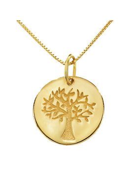 14 K Yellow Gold Family Tree Pendant Necklace by Fine Jewelry
