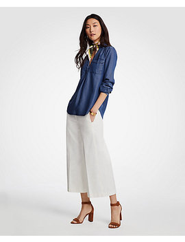Tall Chambray Camp Shirt by Ann Taylor