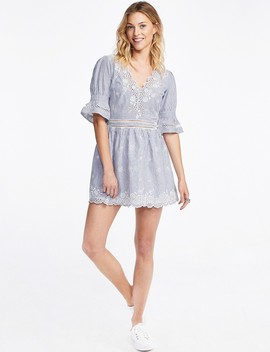 Embroidered Cotton Dress by Castro