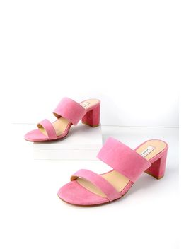 Lakeview Fuchsia Suede Leather Mules by Kristin Cavallari