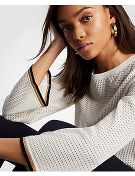 Shimmer Mesh Stitch Sweater by Ann Taylor