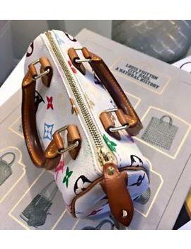Authentic Louis Vuitton Rare Monogram Multicolor Mini Speedy White Purse Handbag by Louis Vuitton
