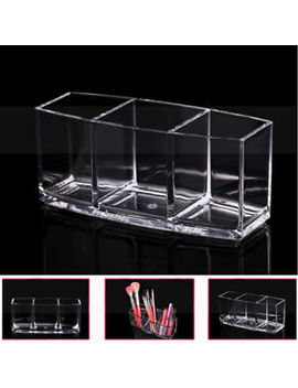 Cosmetic Beauty Make Up Organizer Holder Makeup Brush Clear Storage Display Cup by Unbranded