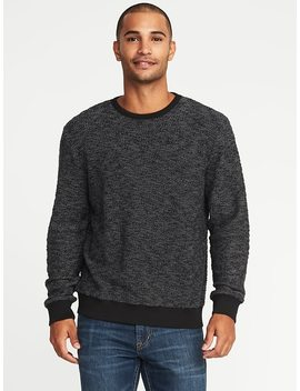 Textured Terry Crew Neck Sweater For Men by Old Navy