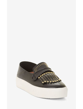 Dita Studded Leather Sneakers by Bcbgmaxazria