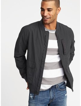 Water Resistant Nylon Bomber Jacket For Men by Old Navy