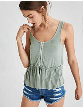 Ae Soft &Amp; Sexy Babydoll Top by American Eagle Outfitters