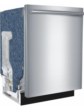 """300 Series 24"""" Bar Handle Dishwasher With Stainless Steel Tub   Stainless Steel by Bosch"""